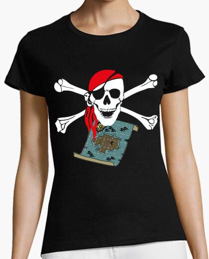 Tee-shirt carte pirate calavera tibias