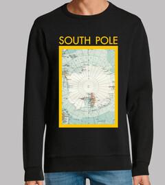 carte vintage du pôle sud v01