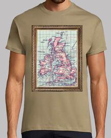 carte vintage du Royaume-Uni