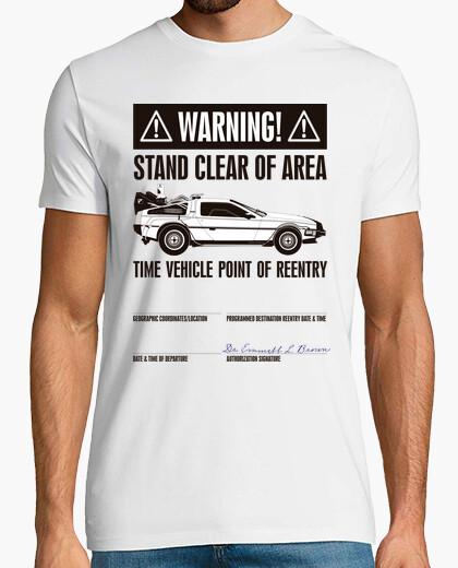 Camiseta Cartel de Advertencia (Regreso Al Futuro)