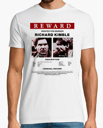 Camiseta Cartel Se Busca a Richard Kimble (El Fugitivo)