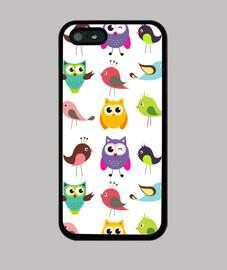 Cartoon Birds and Owls
