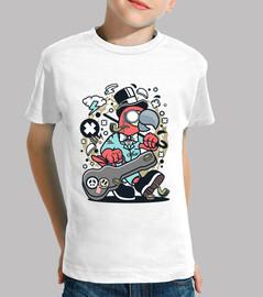 cartoon funny animal parrot t shirt