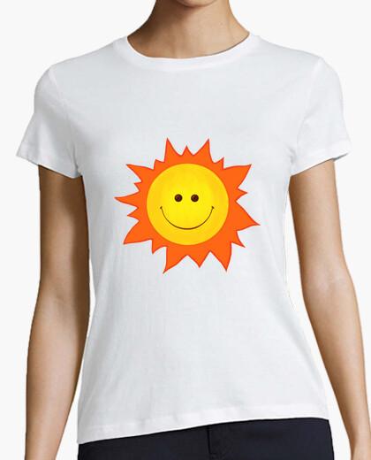 T-Shirt cartoon lächelnde glückliche sonne