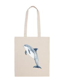 cartouchière 100 coton dauphin
