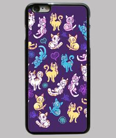 cas coloré téléphone chats