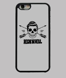 cas d'iphone crâne roche and rouleau noir