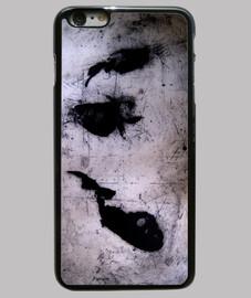 cas iphone 6 plus, noir / poissons