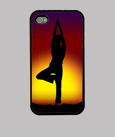 Cas mobile arbre pose de yoga