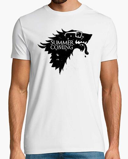 Camiseta Casa Stark - Summer Is Coming (Parodia de Juego de Tronos)