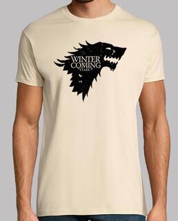 Casa Stark Juego de tronos Winter is Coming  TV Serie camisetas friki