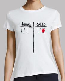 casa vs dios - camiseta de la mujer