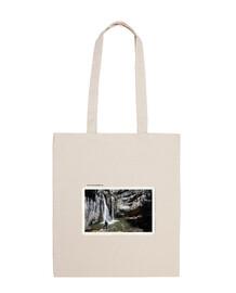 Cascada de la Fuentona (Soria) Bolsa tela 100% algodón