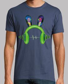 caschi con orecchie e onda sonora