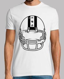 casco da calcio indossato