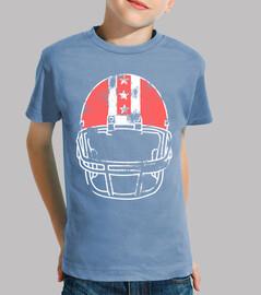casco de fútbol americano de colores
