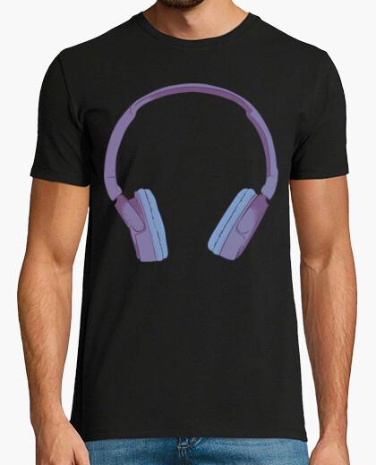 Camiseta Cascos / Musica / Azul / Violeta