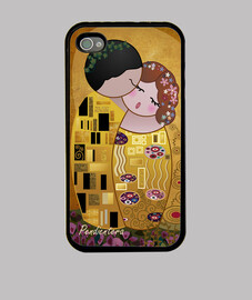 case for iphone 4 / 4s kokeshi kiss