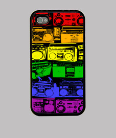 case iphone, retro radio cassette
