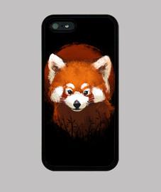case panda coucher de soleil rouge
