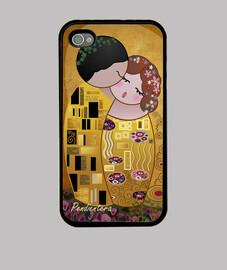 caso per iphone 4 / 4s kokeshi bacio