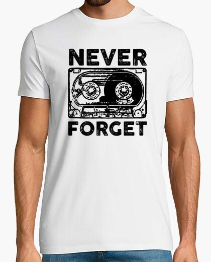 T-shirt cassetta non dimentichi mai
