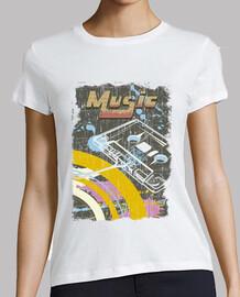 cassette vintage de musique rétro des années 80 t-shirt