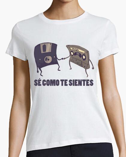 Camiseta Cassette y Disquete