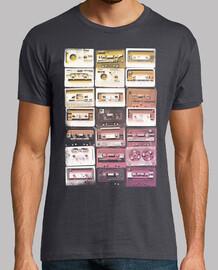 cassettes vintage blanches