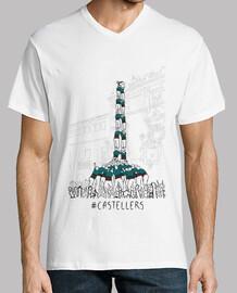 Castellers - Samarreta de noi, amb coll de pic tancat