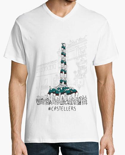 Tee-shirt castellers - samarreta de noi, amb coll emballé tancat