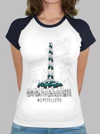 castellers - samarreta of baseball noia estil