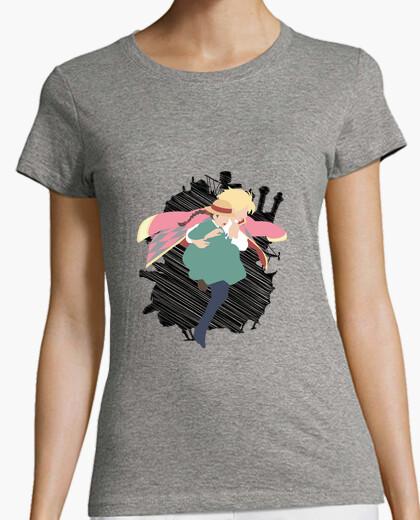 T-shirt castello errante di howl per donna