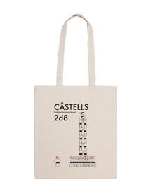 Castells 2d8 tote bag