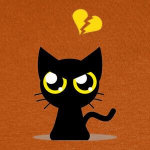 Tee-shirts Cat Broken Heart