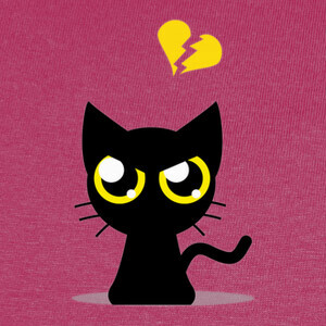 Camisetas Cat Broken Heart