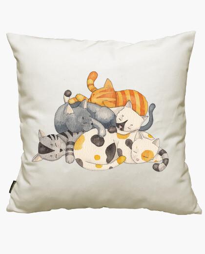 Funda cojín Cat Nap - Siesta Time (camiseta)