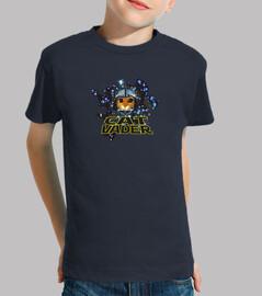 Cat Vader camiseta infantil