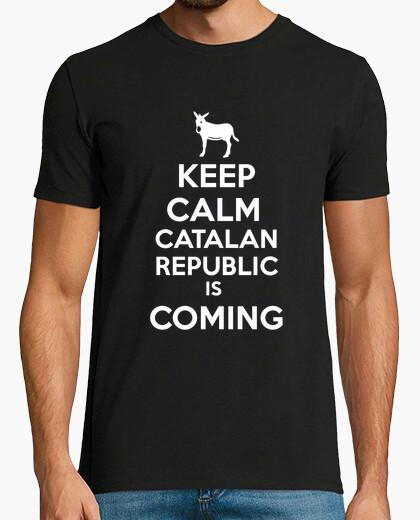 Camiseta Catalan republic keep calm blanc home