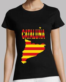 Cataluña Bandera y letras chica