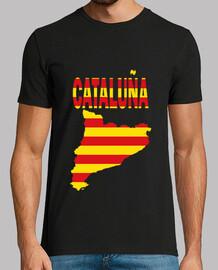 Cataluña Bandera y letras chico