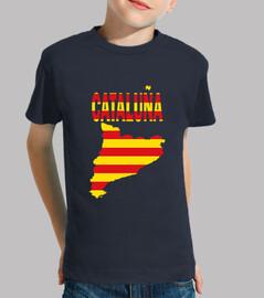 Cataluña Bandera y letras niños
