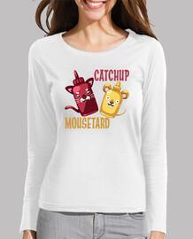 Catchup & Mousetard Camiseta Chica Manga Larga