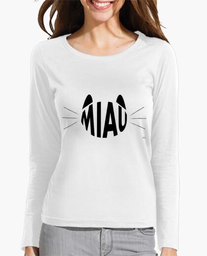 Tee-shirt catlike miaou