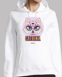 catrina cat, halloween mexico sweatshirt