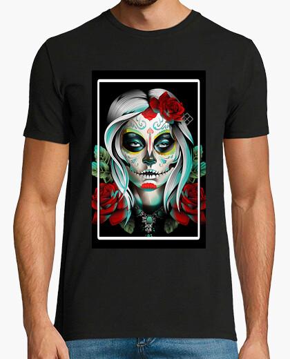 T-shirt catrina e fiori