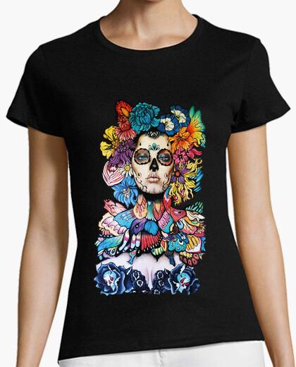 Camiseta Catrina Multicolor Katrina Calaca Hallo