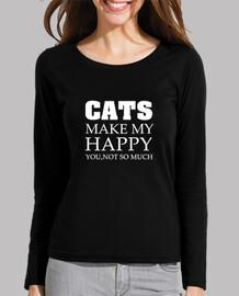 CATS MAKE MY HAPPY