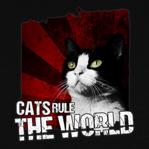 Camisetas Cats Rule The World