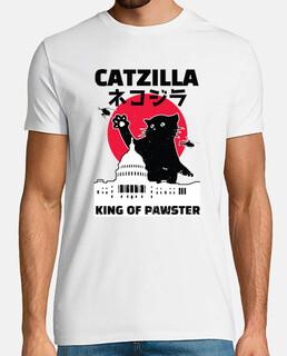 catzilla gatto nero che attacca la citt